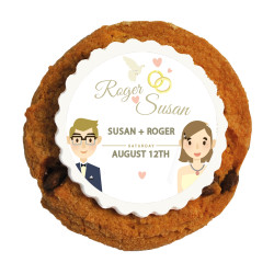 Lovers Wedding Printed Cookies