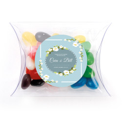 Blue Floral Wedding Pillow Box