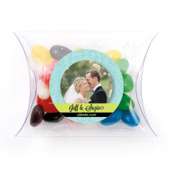 Blue and Green Custom Photo Pillow Box