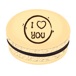 I ❤ YOU Printed Macarons