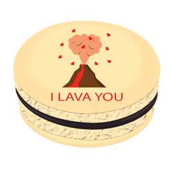 I Lava You ❤ Printed Macarons