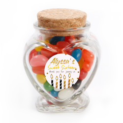 Golden Candles Birthday Glass Jar