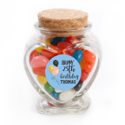 Balloons Birthday Glass Jar