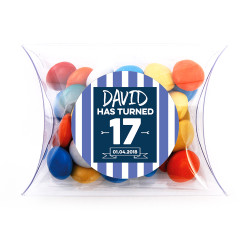 Blue Stripes Birthday Pillow Box