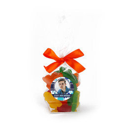 Blue Polkadots with Custom Photo Birthday Mug Drops