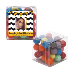 Black Chevron Custom Photo Birthday Sweet Cubes