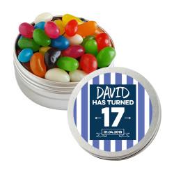 Blue Stripes Birthday Twist Tins