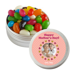 Hearts Custom Photo Mother's Day Twist Tins