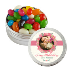 Floral Custom Photo Mother's Day Twist Tins