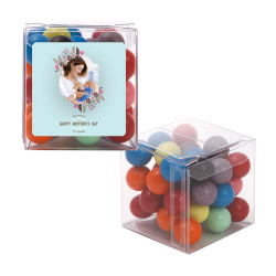 Blue Floral Custom Photo Mother's Day Sweet Cubes