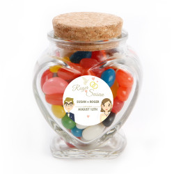Lovers Wedding Glass Jar