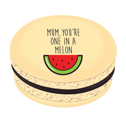 Mum You're One in a Melon Printed Macarons