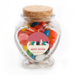 Easter Eggs and Bunnies Glass Jar