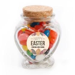 Happy Easter Eggs Glass Jar