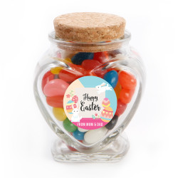 Colourful Eggs and Easter Bunnies Glass Jar
