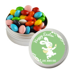Green Happy Easter Bunny Twist Tins