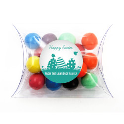 Green Easter Eggs Pillow Box