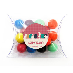 Easter Eggs and Bunnies Pillow Box