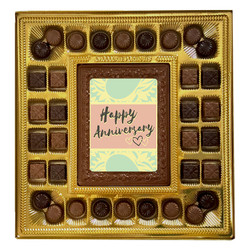 Green Happy Anniversary Deluxe Chocolate Box