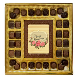 Flower Happy Anniversary Deluxe Chocolate Box