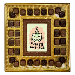 Cat Happy Birthday Deluxe Chocolate Box