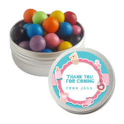 Pink and Blue Baby Shower Twist Tins