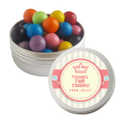 Pink and Cream Baby Shower Twist Tins