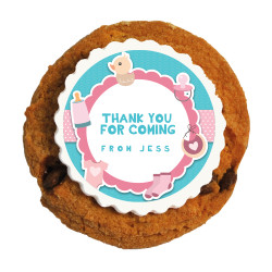 Pink and Blue Baby Shower Printed Cookies