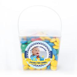 Blue Custom Photo Baby Shower Noodle Box