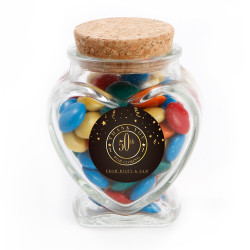 Golden Brown Anniversary Glass Jar