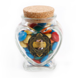 Dark and Golden Custom Photo Anniversary Glass Jar