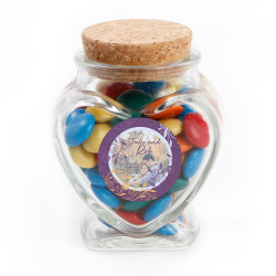 Violet Custom Photo Anniversary Glass Jar