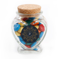 Midnight Blue Anniversary Glass Jar