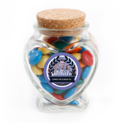 Purple Custom Photo Anniversary Glass Jar