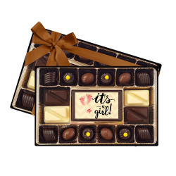 Foot Print It's a Girl Signature Chocolate Box