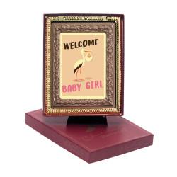 Welcome Baby Girl Chocolate Portrait