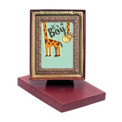 Giraffe It's a Boy Chocolate Portrait
