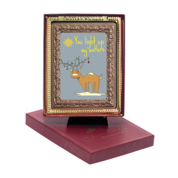 You Light Up My Antlers Chocolate Portrait