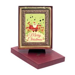 Merry Christmas Santa Chocolate Portrait