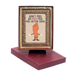Don't Feel De-Feet-Ted Chocolate Portrait