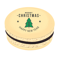 Christmas Tree Star Greetings Christmas Printed Macarons