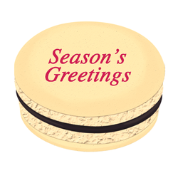 Fuchsia Season's Greetings Christmas Printed Macarons