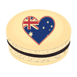 Australia Heart Map Printed Macarons