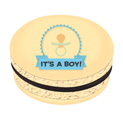 It's a Boy! Printed Macarons