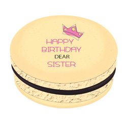 Happy Birthday Dear Sister Printed Macarons