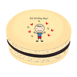 Boy Birthday Hugs! Printed Macarons