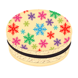 Colorful Snowflakes Christmas Printed Macarons