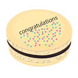 Congratulations Polka Dots Printed Macarons
