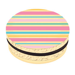 Colorful Stripes Printed Macarons
