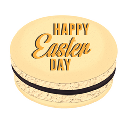 Happy Easter Day Printed Macarons